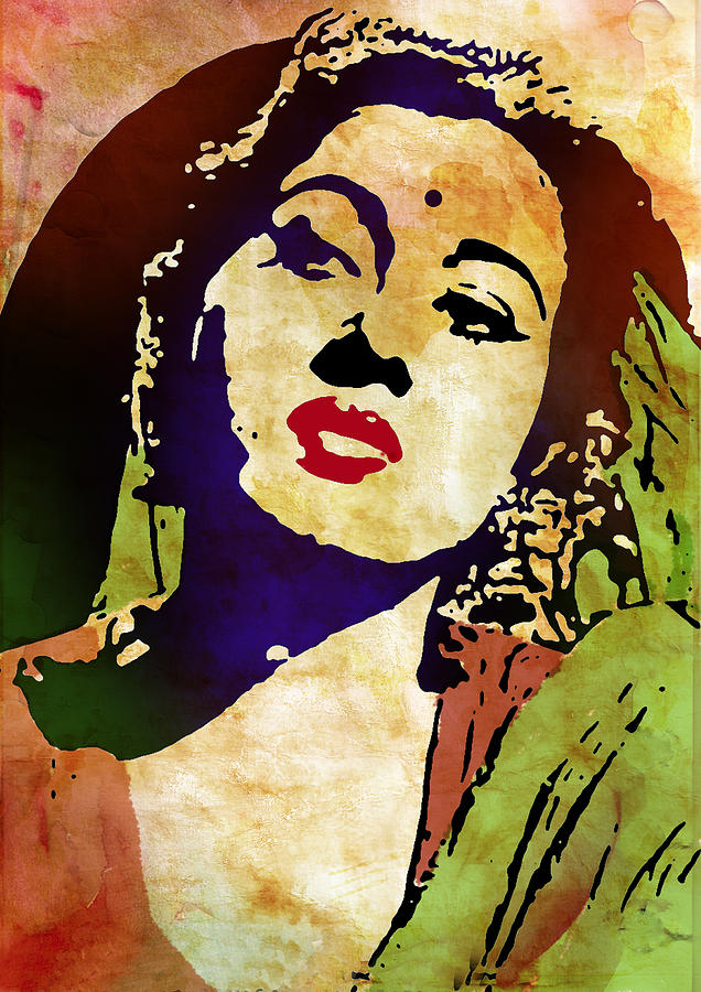 Famous Hindi Movie Actress Madhubala Digital Art