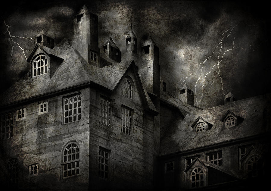 Fantasy - Haunted - It Was A Dark And Stormy Night Photograph  - Fantasy - Haunted - It Was A Dark And Stormy Night Fine Art Print