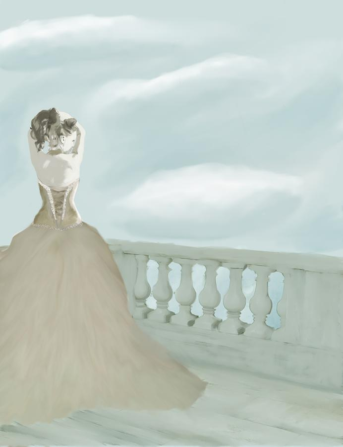 Fantasy Bride Digital Art  - Fantasy Bride Fine Art Print