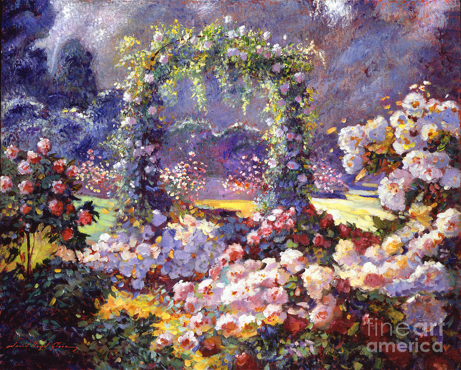 Fantasy garden delights by david lloyd glover for Garden painting images