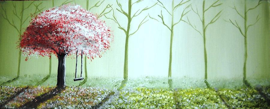Fantasy Painting - Fantasy Garden by Edwin Alverio