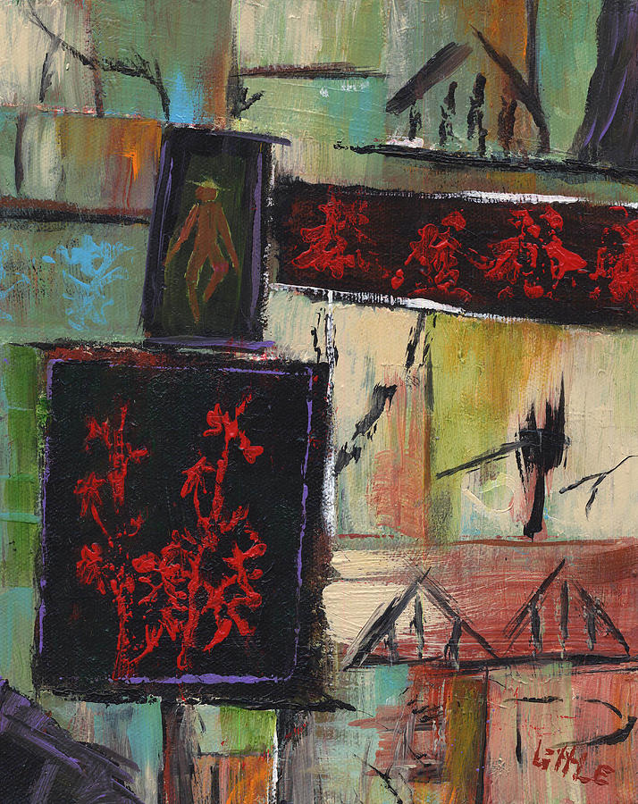 Abstract Painting - Far East by Jerry Little