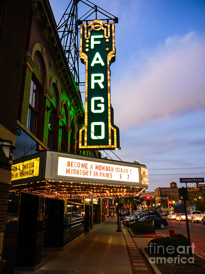 Fargo Theater And Downtown Along Broadway Drive Photograph