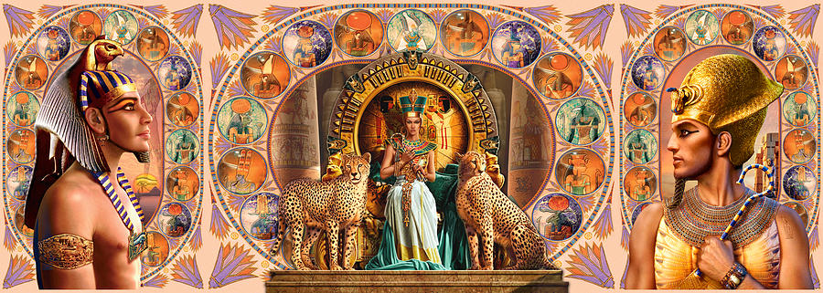 Farley Egyptian Triptych Photograph
