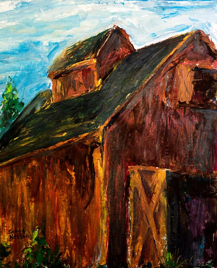 Farm Barn Painting  - Farm Barn Fine Art Print