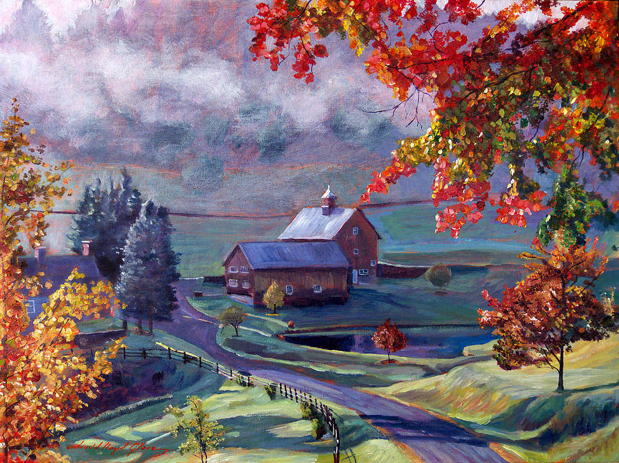 Farm In The Dell Painting  - Farm In The Dell Fine Art Print