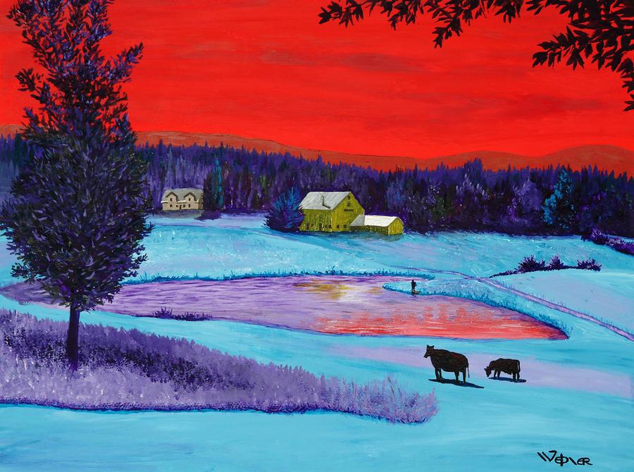 Farm Pond Painting