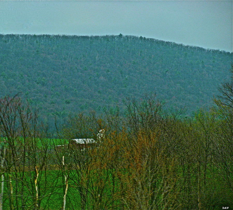 Farm Tucked Mountaintop  Photograph