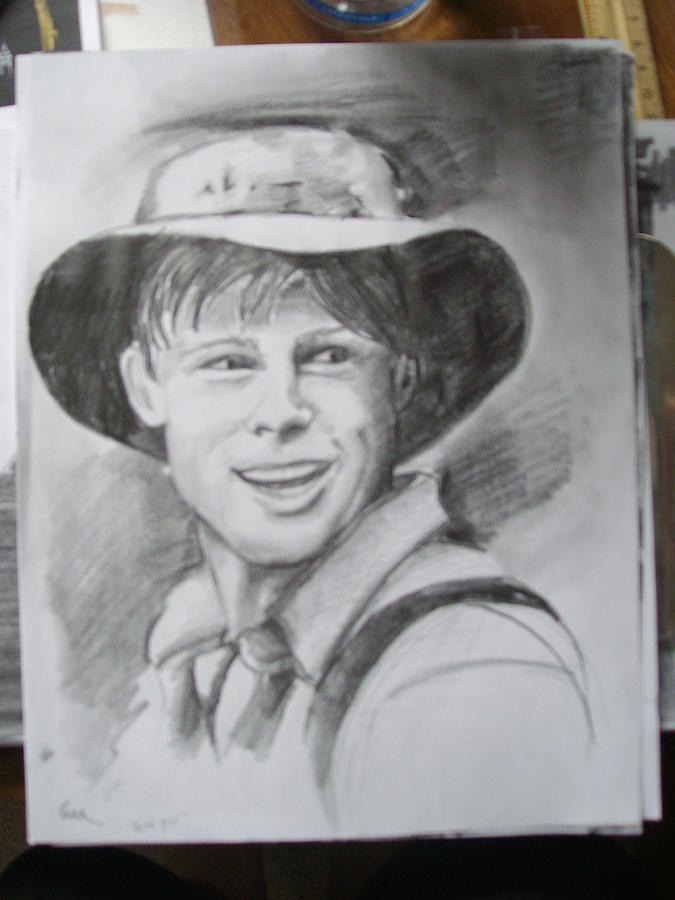 Farmer In Hat Drawing