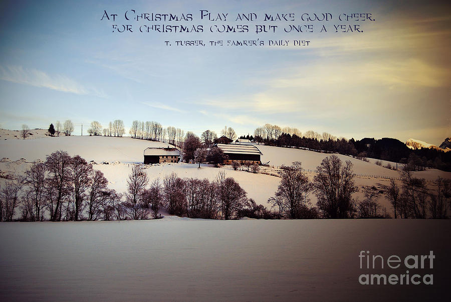Farmers Christmas Photograph  - Farmers Christmas Fine Art Print