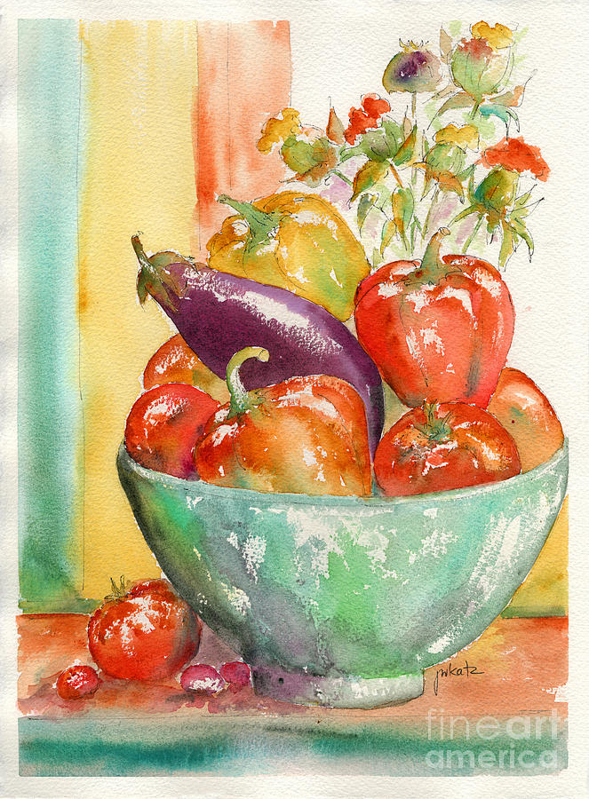 Farmers Market Bounty Painting  - Farmers Market Bounty Fine Art Print