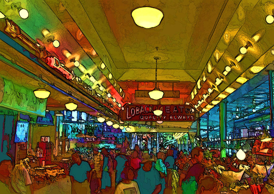 Farmers Market Digital Art