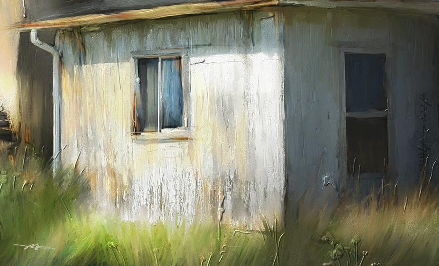 Farmhouse Detail Port Albert Ontario Painting  - Farmhouse Detail Port Albert Ontario Fine Art Print