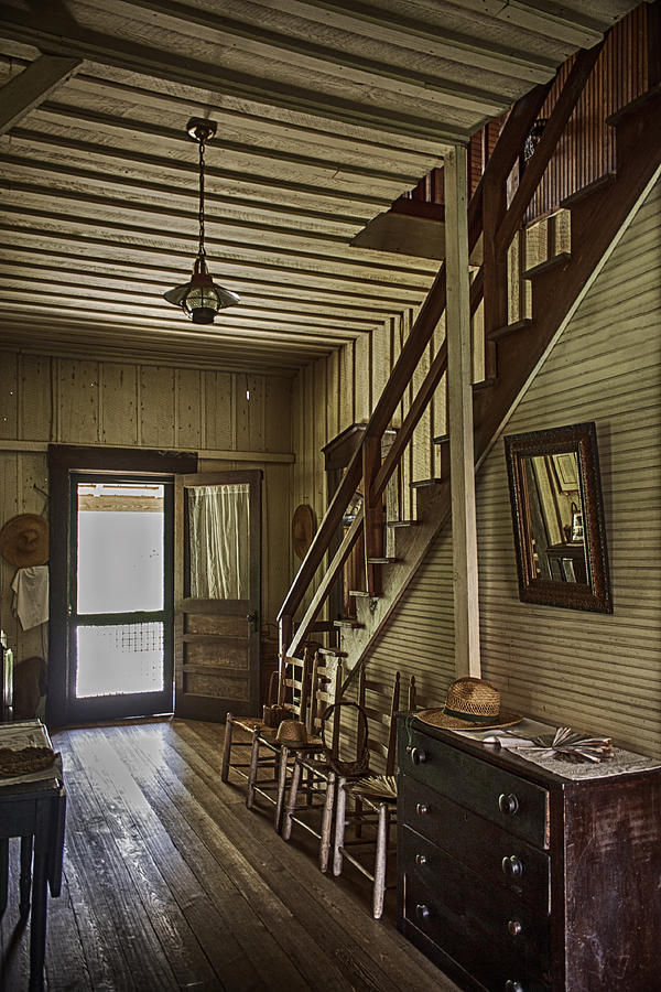 Farmhouse Entry Hall And Stairs Photograph  - Farmhouse Entry Hall And Stairs Fine Art Print