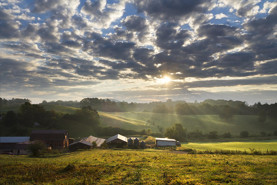 Farmlands Of Appalachia Photograph  - Farmlands Of Appalachia Fine Art Print