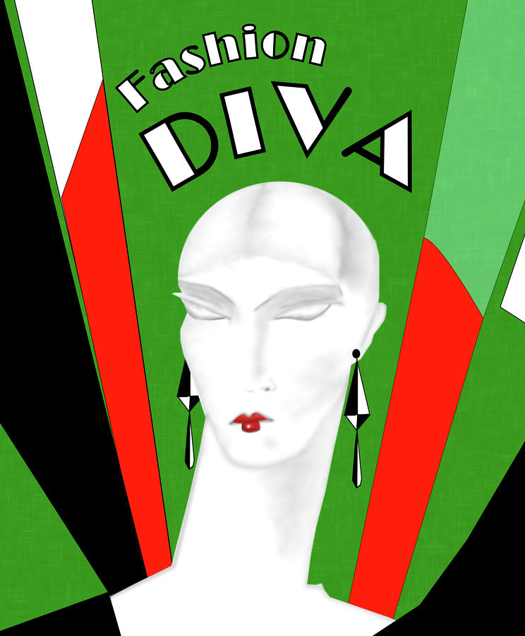 Fashion Diva Painting  - Fashion Diva Fine Art Print