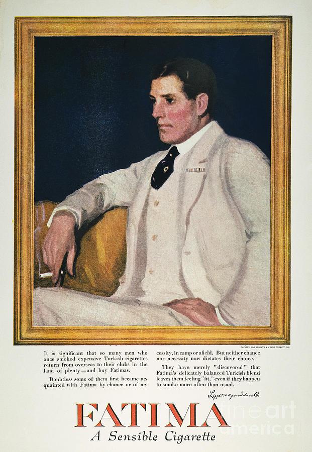 Fatima Cigarette Ad, 1917 Photograph