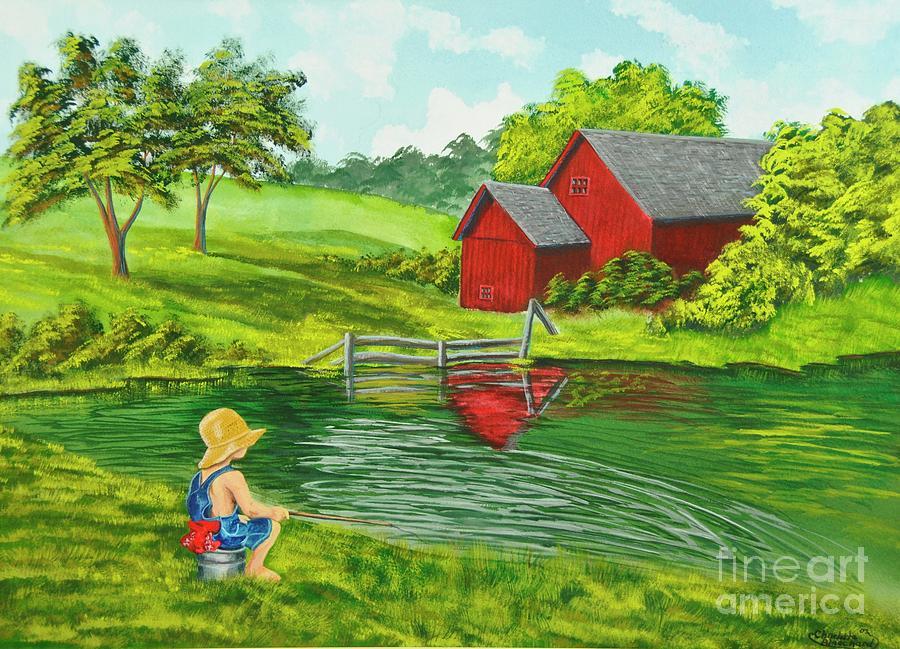 Favorite Fishing Hole Painting