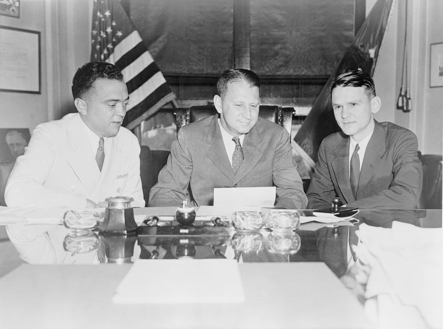 Fbi Director J. Edgar Hoover Photograph  - Fbi Director J. Edgar Hoover Fine Art Print