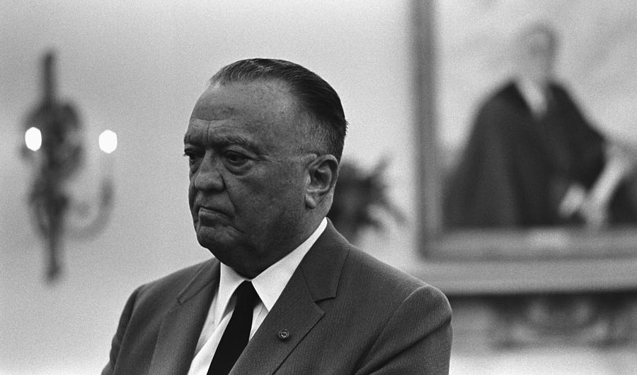 Fbi Director, J. Edgar Hoover, In An Photograph  - Fbi Director, J. Edgar Hoover, In An Fine Art Print