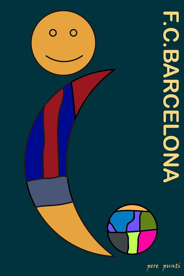 Abstract Abstracto Futbol Club Barcelona Digital Digital Art - F.c.barcelona V.8 by Pere Punti