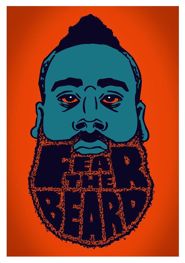 Fear The Beard Digital Art  - Fear The Beard Fine Art Print
