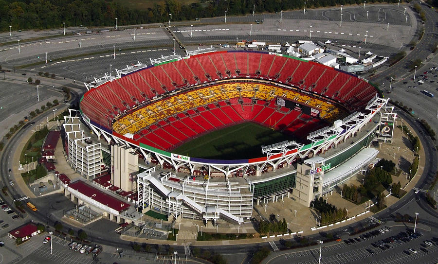 Fedex Field Redskins Stadium Painting  - Fedex Field Redskins Stadium Fine Art Print