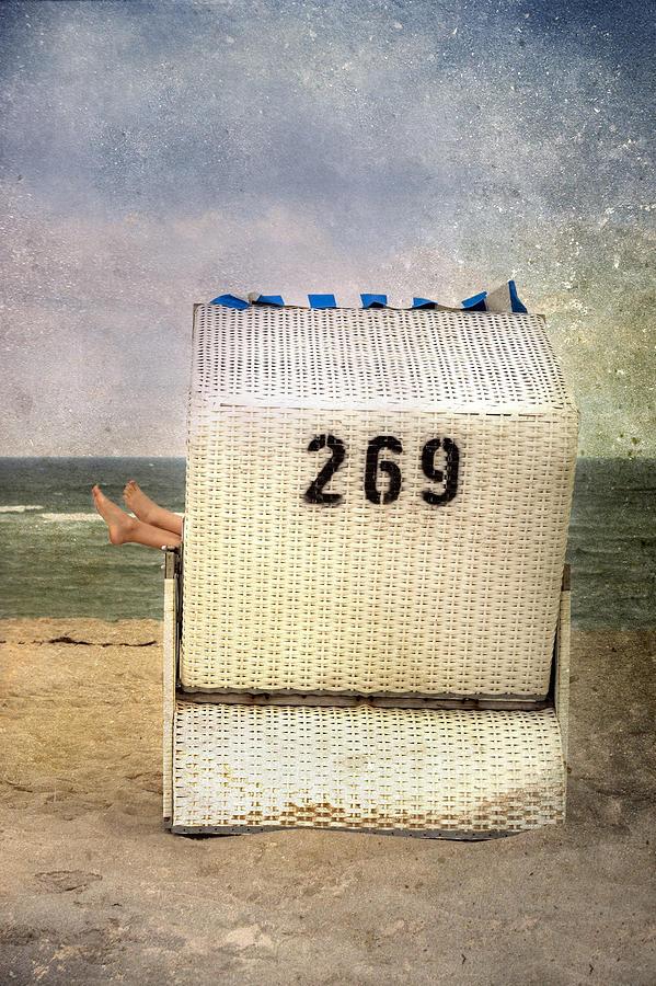 Feet And Beach Chair Photograph