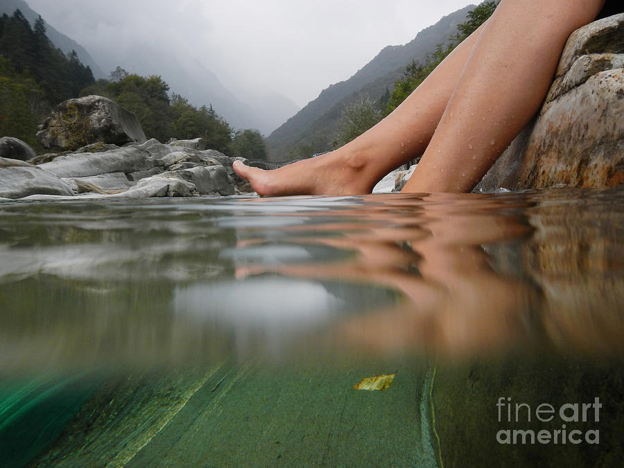 Feet On The Water Photograph