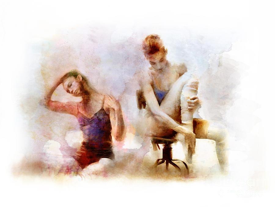 Female Ballet Mixed Media