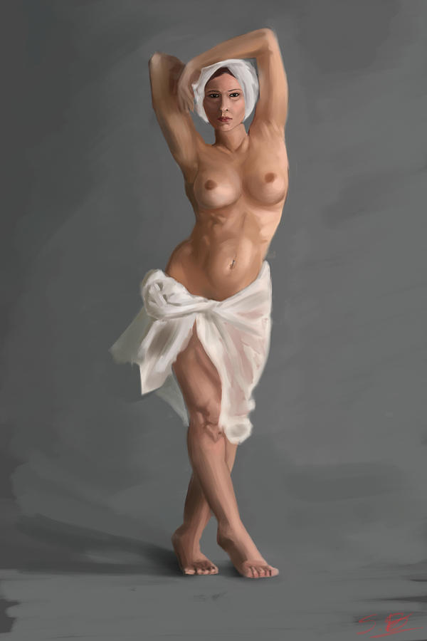 Female Nude Digital Art