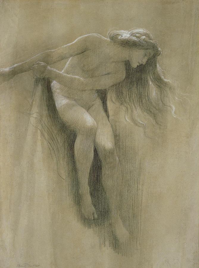 Female Nude Study  Pastel