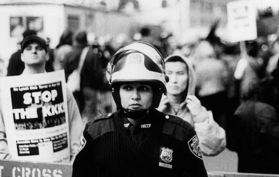 Female Riot Cop Photograph