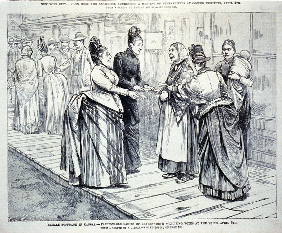 Female Suffrage In Kansas. Ladies Photograph