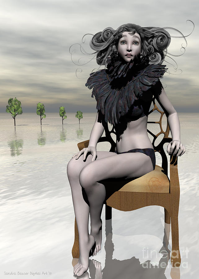 Femme Avec Chaise Digital Art by Sandra Bauser Digital Art