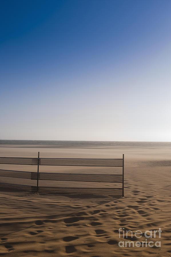 Fence On Beach Photograph