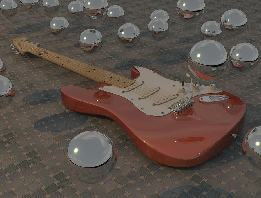 Fender Strat-o-spheres Digital Art