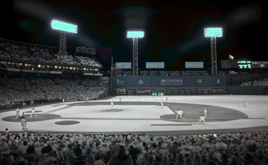 Fenway Infrared Photograph  - Fenway Infrared Fine Art Print