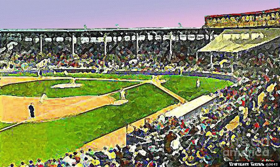 Fenway Park In Boston Ma In 1940 Painting  - Fenway Park In Boston Ma In 1940 Fine Art Print
