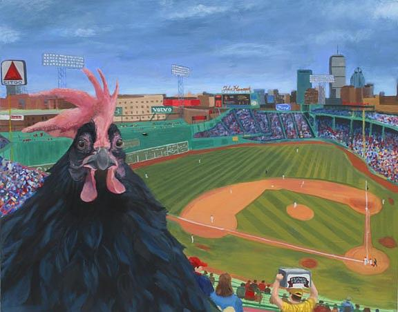 Fenway Rooster Painting