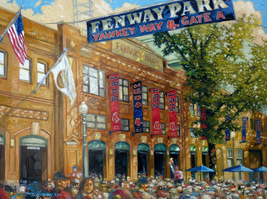 Fenway Summer Painting  - Fenway Summer Fine Art Print