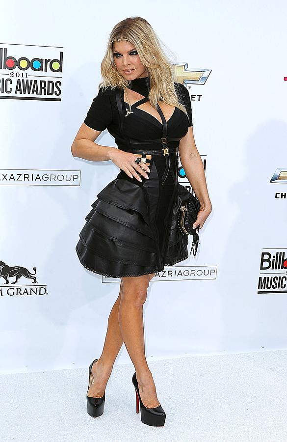 Fergie Photograph - Fergie Wearing A Herve Leger By Max by Everett