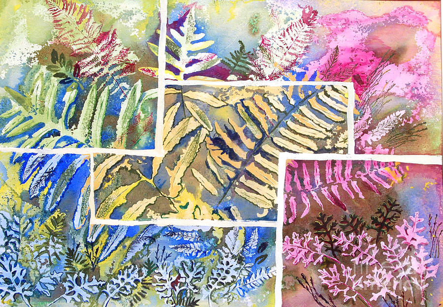 Ferns Mixed Media
