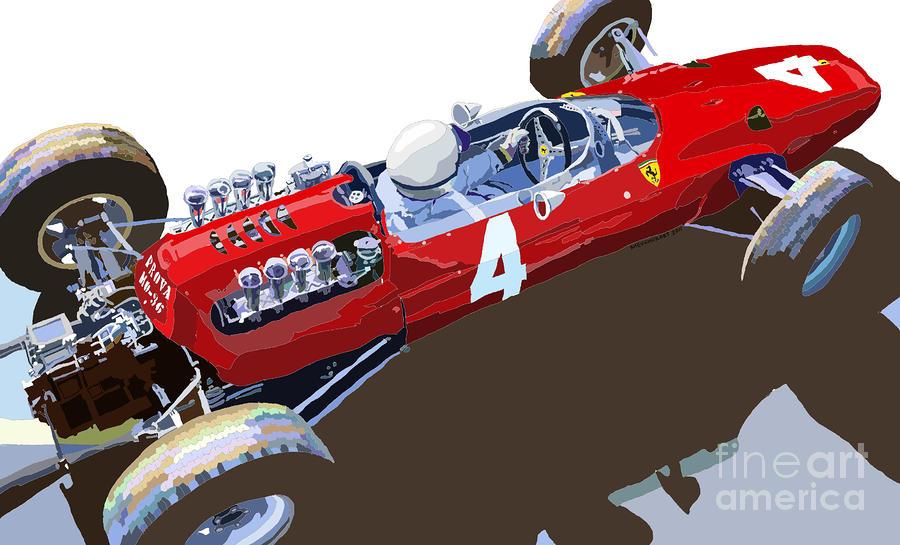 Ferrari 158 F1 1965 Dutch Gp Lorenzo Bondini Digital Art