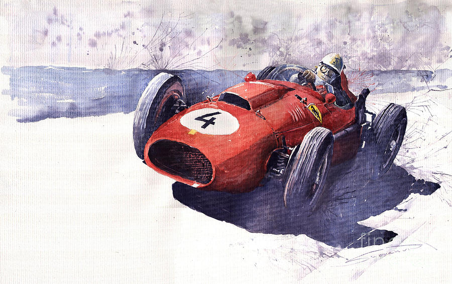 Ferrari 246 Mike Hawthorn Painting