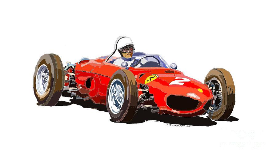 Ferrari Dino 156 1962  Digital Art