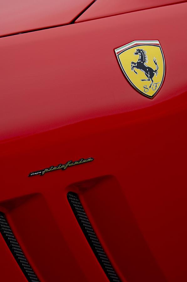 Ferrari Pininfarina Emblem Photograph By Jill Reger