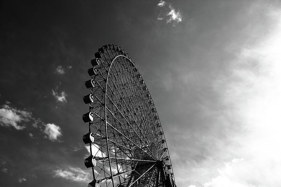 Ferris Wheel Against Sky Photograph  - Ferris Wheel Against Sky Fine Art Print