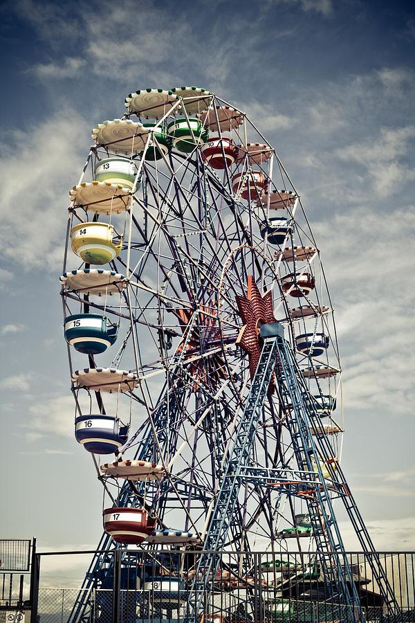 Amusement Photograph - Ferris Wheel by Alex Anashkin