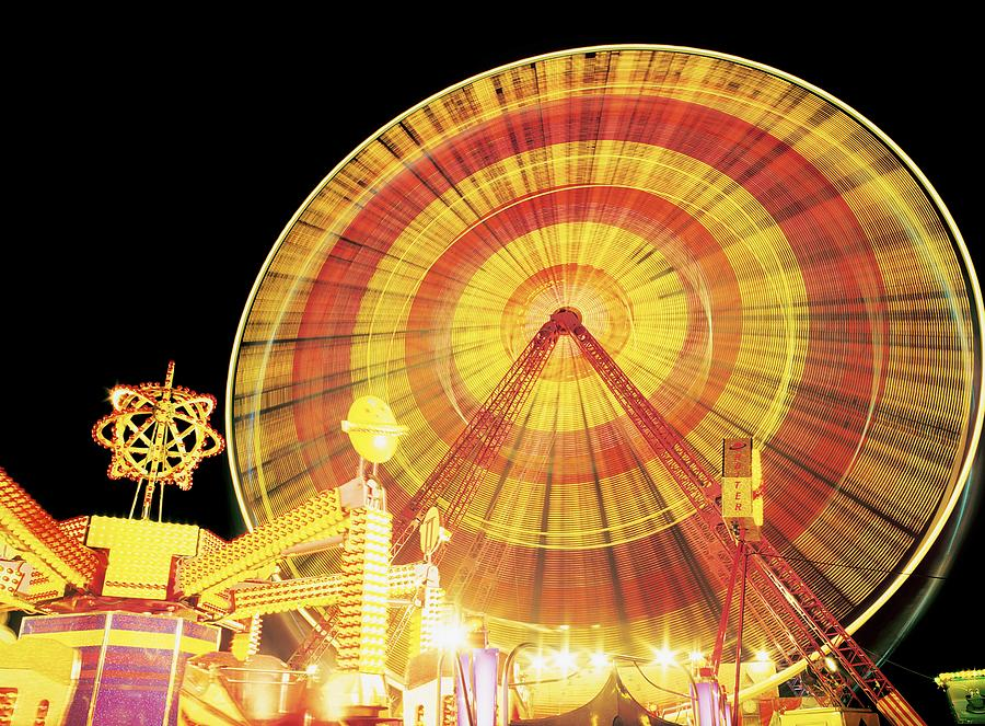 Ferris Wheel And Other Rides, Derry Photograph